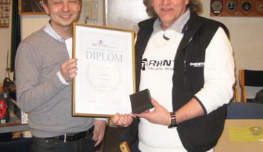 Modellflyseksjonens seksjonshederstegn 2012 tildelt Jan Lødner