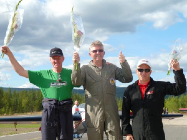 Norgesmester Thore Thoresen, 2. plass Nils-Harald Hansen og 3. plass Marius Skauen